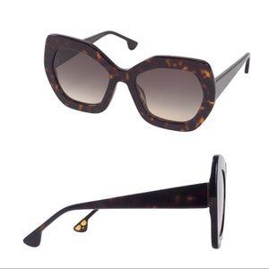 NWT Alice + Olivia Dinah Sunglasses, Dark Tortoise